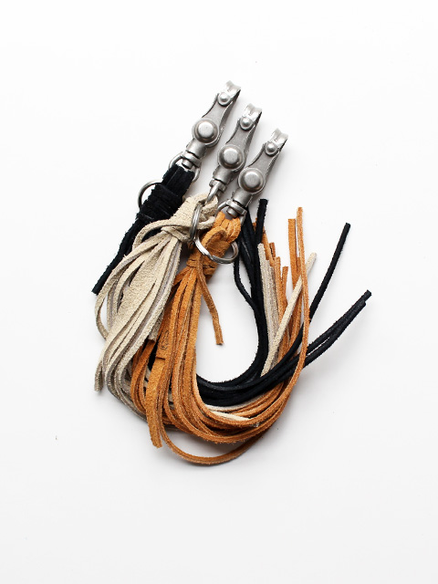 hobo Cow Suede Leather Tassel Key Ring