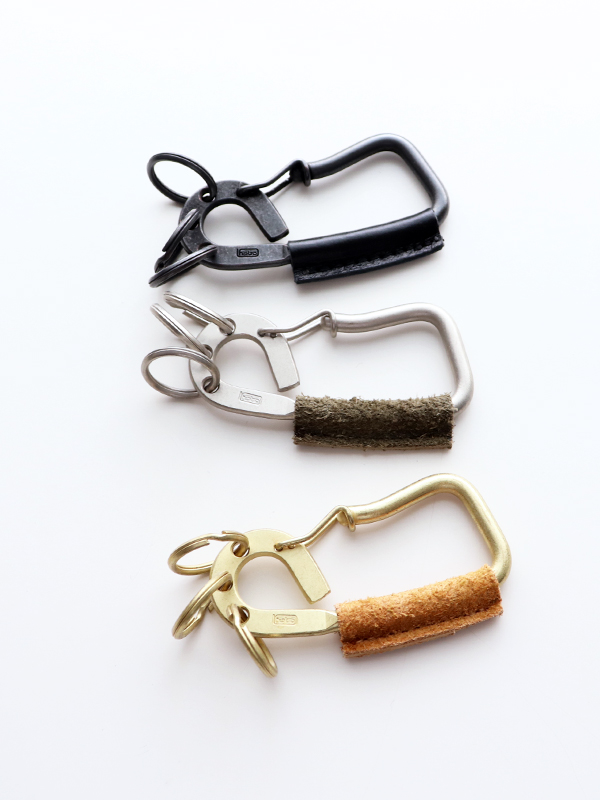 hobo Brass Carabiner with Cow Leather