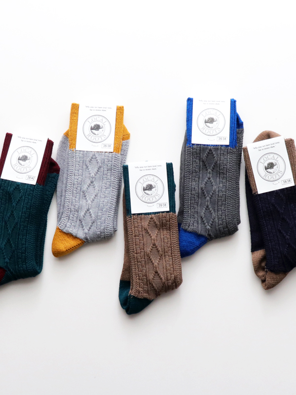 LOCAL ROOTS MERINO CABLE SOCKS