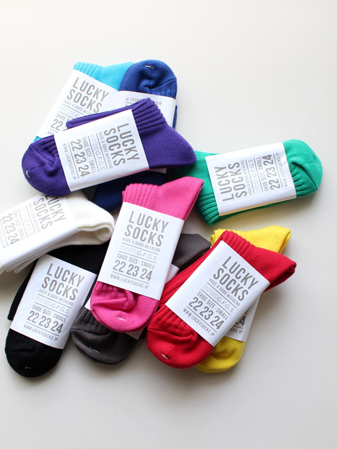 LUCKY SOCKS × G.F.G.S. PLAY Pure Organic Cotton Rib Socks