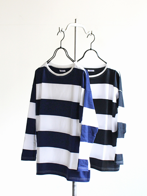 maillot Wide Border Long Sleeve Big Tee (ワイドボーダーロングスリーブビックTee) MAC-15235