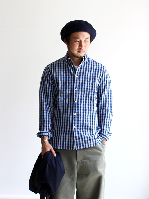 maillot sunset big gingham B.D. shirts (ビックギンガム・B.D) MAS-003B