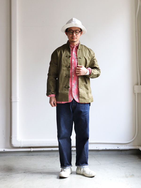 maillot sunset gingham work shirts (ギンガムワーク) MAS-004