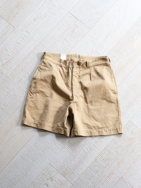 1980's French Army Chino Shorts -USED