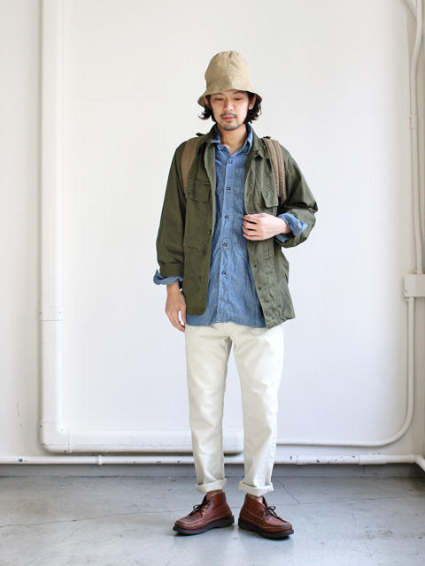 orSlow オアスロウ Vintage Fit Work Shirt Chambray