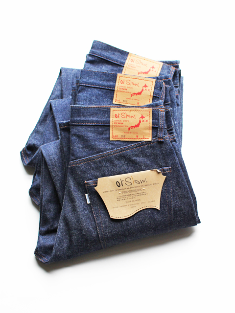 orSlow Dad's Denim Pants -RIGID