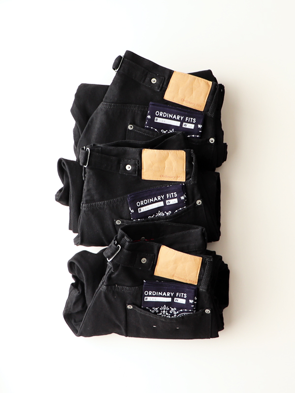 Ordinary fits FARMERS 5P BLACK DENIM -ONEWASH