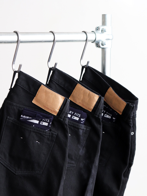 Ordinary fits ANKLE BLACK DENIM PANTS -ONE WASH