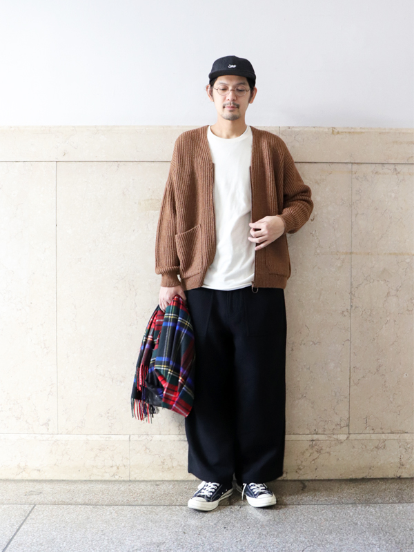 Ordinary fits PIPE FATIGUE PANTS