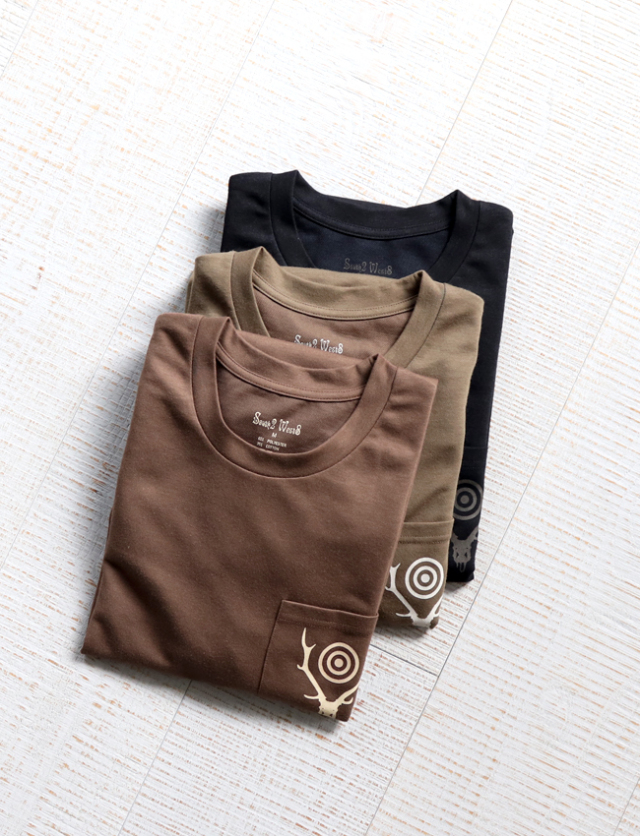 SOUTH2 WEST8 L/S Round Pocket Tee - Circle Horn