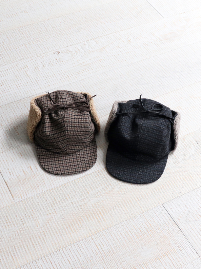 SOUTH2 WEST8 Earflap Cap - Poly Gunclub Plaid