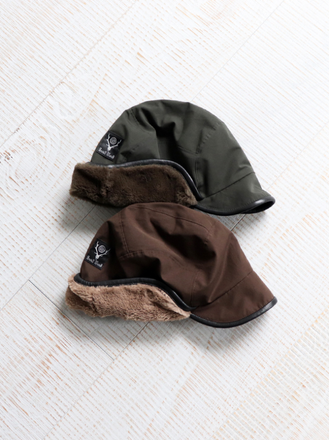 SOUTH2 WEST8 Bird Shooting Cap - Wax Coating / Boa Lined
