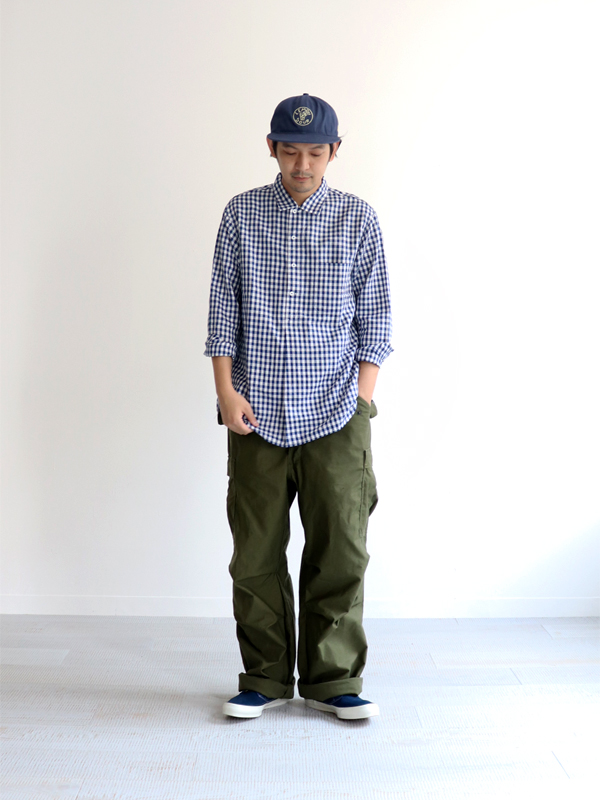 A Vontade Classic Pullover Shirt L/S -70/-Supema Cotton×1/60Linen Chambray-