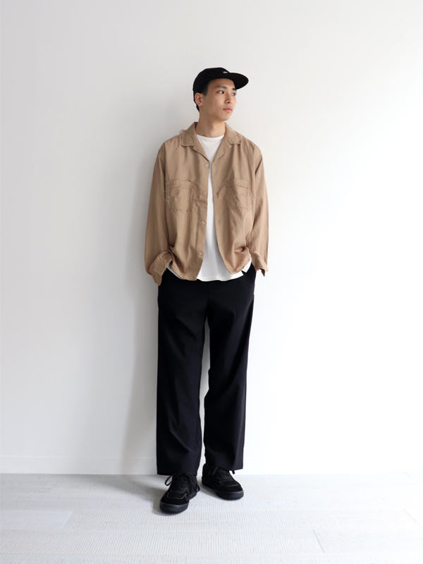 CURLY ADVANCE WIDE TROUSERS