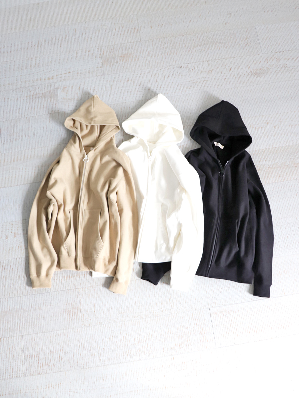 unfil cotton-terry zip up hoodie