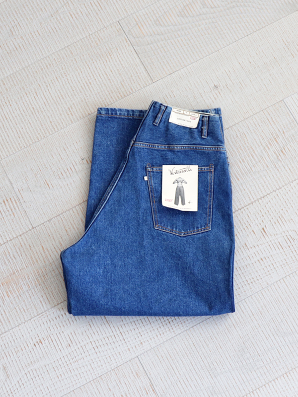 WESTOVERALLS 5POCKET DENIM TROUSERS. 850B-BIOBLUE