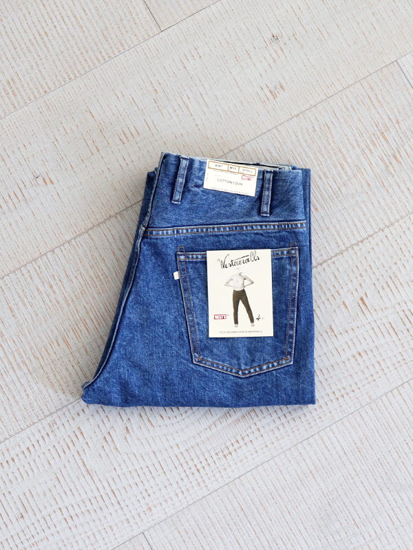 WESTOVERALLS 5POCKET DENIM TROUSERS. 806T-BIOBLUE