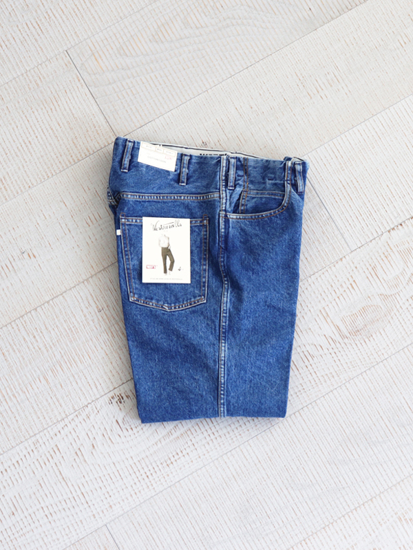 WESTOVERALLS 5POCKET DENIM TROUSERS. 817F-BIOBLUE