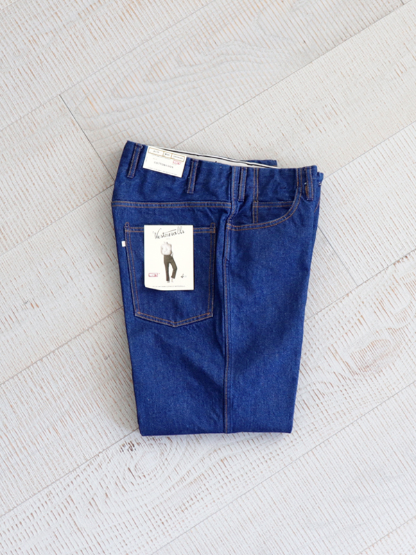 WESTOVERALLS 5POCKET DENIM TROUSERS. 817F-ONEWASH