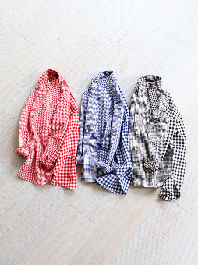 maillot Stand Combi Shirt -Gingham  (ギンガム・コンビシャツ) MAS-18211