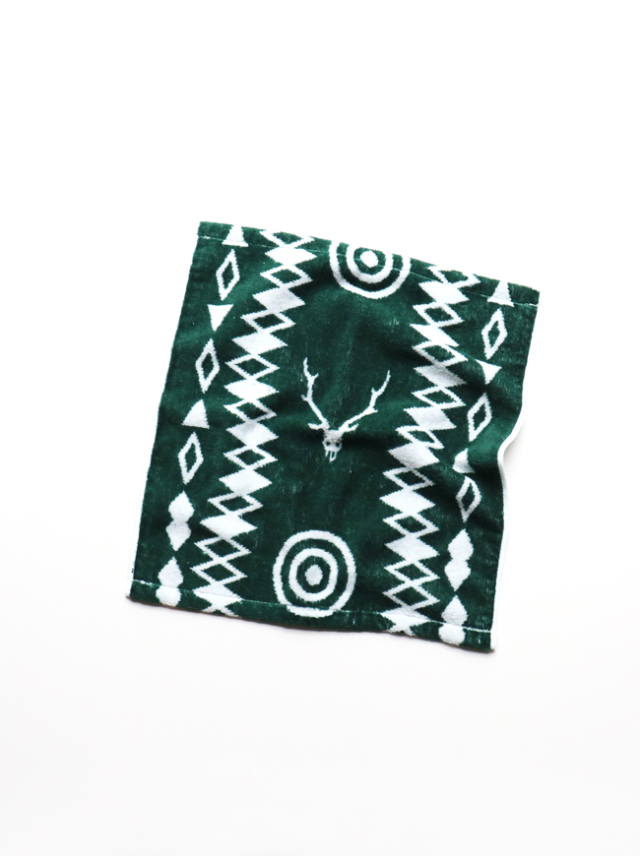 SOUTH2 WEST8(サウスツーウェストエイト) Wash Towel - Cotton Jacquard / Target & Skull