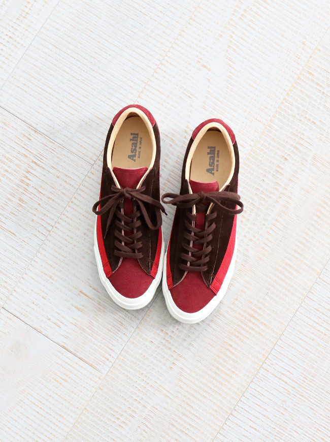 ASAHI(アサヒ) BELTED LOW SUEDE -RED BROWN