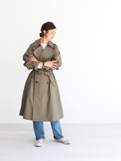 AURALEE(オーラリー)  FINX POLYESTER BIG TRENCH COAT