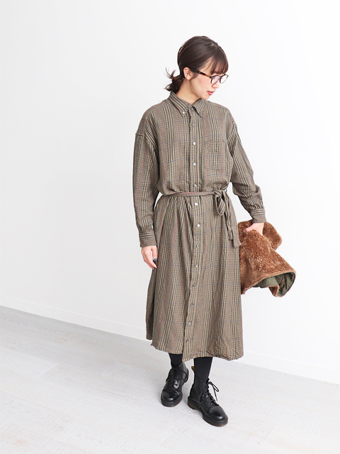 ENGINEERED GARMENTS(エンジニアードガーメンツ) BD Shirt  Dress -Gunclub Check Twill