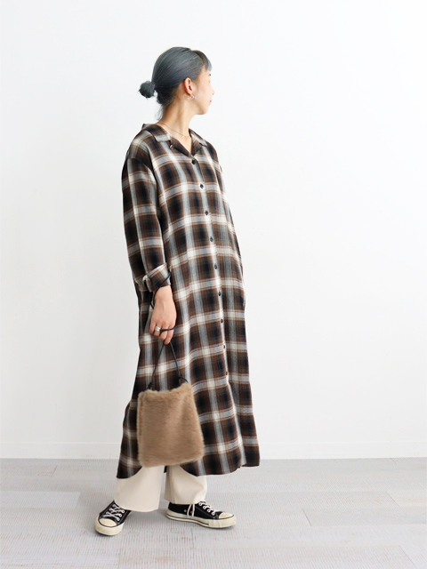 H(アッシュ)  Ombre check Onepiece