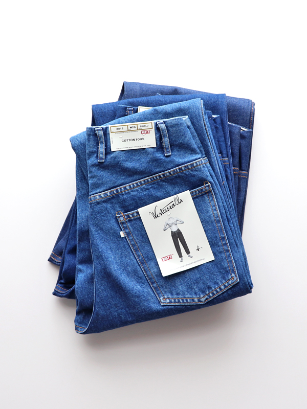 WESTOVERALLS 5POCKET DENIM TROUSERS. 801S-BIOBLUE