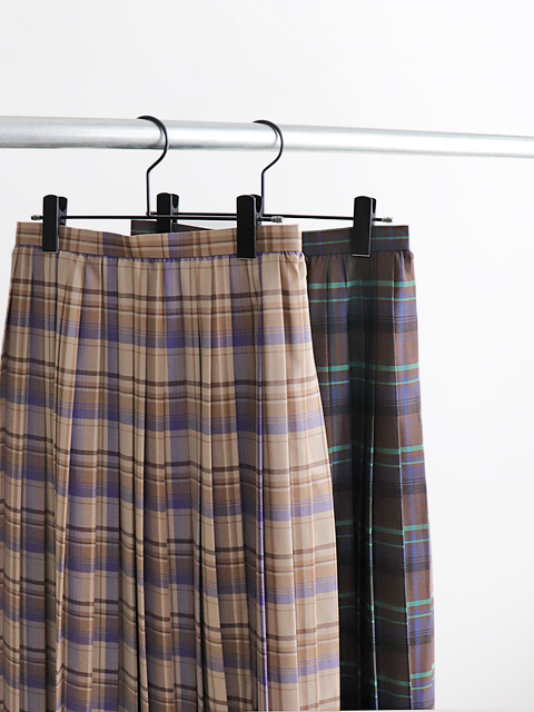 AURALEE(オーラリー) SUPER LIGHT WOOL CHECK PLEATED SKIRT
