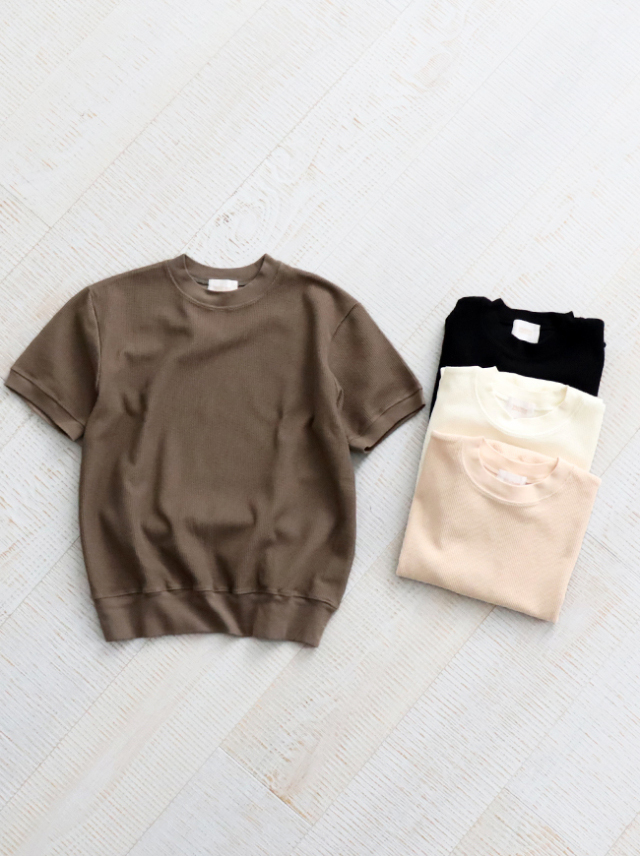 blurhms ROOTSTOCK(ブラームスルーツストック) Rough & Smooth Thermal Pullover S/S