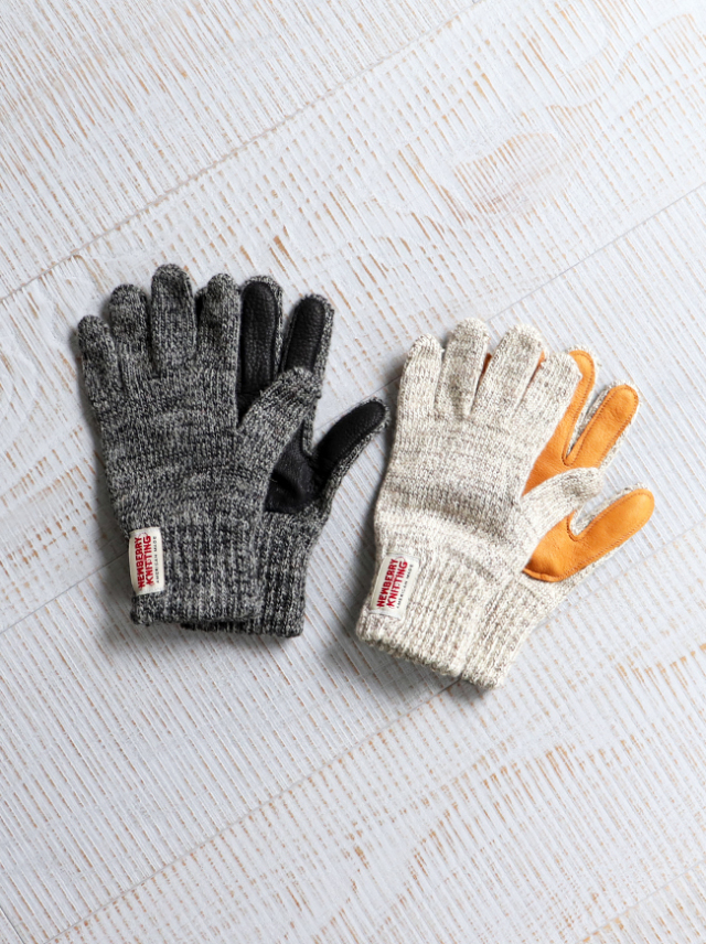 NEWBERRY KNITTING (ニューベリーニッティング) DeerSkin×Wool Glove