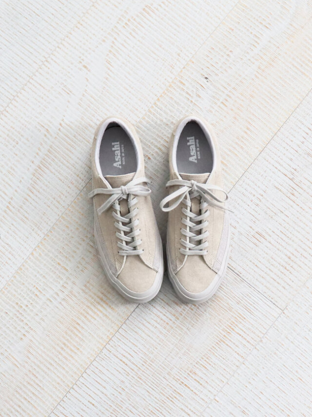 ASAHI(アサヒ) BELTED LOW SUEDE -GRAY GRAY