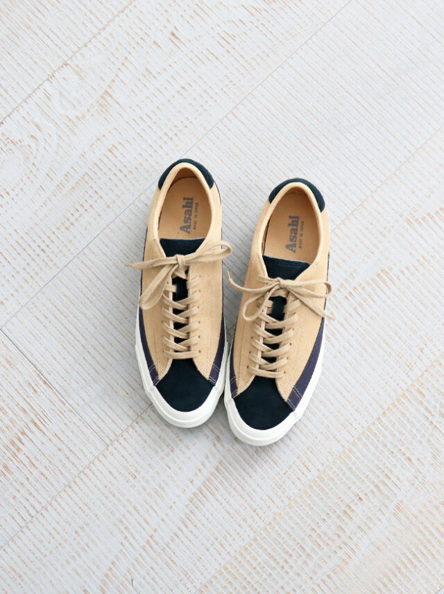 ASAHI(アサヒ) BELTED LOW SUEDE -NAVY BEIGE