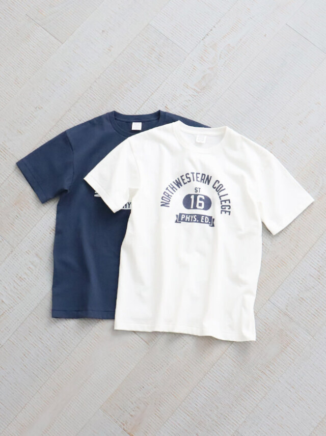 A Vontade(アボンタージ)7.5oz Tube S/S T-Shirts -NORTHWESTERN COLLEGE- ナイモノねだり