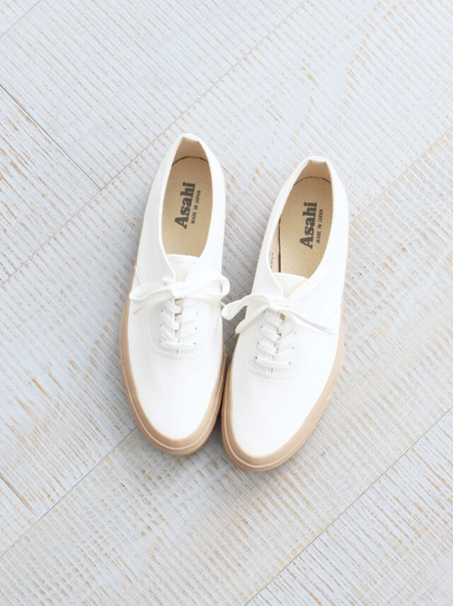 ASAHI(アサヒ) DECK - WHITE/BEIGE