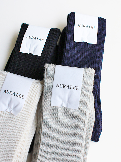 AURALEE(オーラリー) COTTON CASHMERE LOW GAUGE SOX