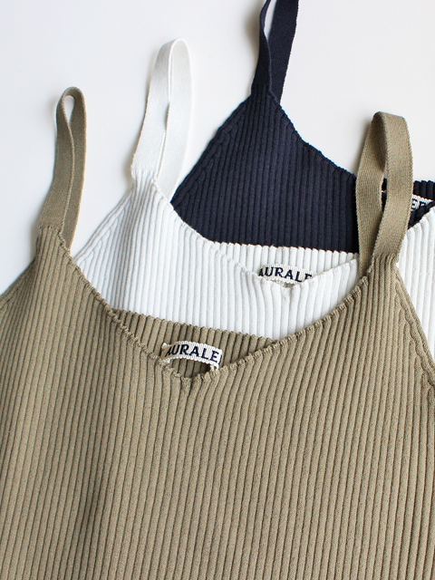 AURALEE(オーラリー) SUPERFINE HIGH GAUGE RIB KNIT CAMISOLE