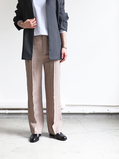 AURALEE(オーラリー) LINEN WOOL SILK SHARK SKIN SLACKS