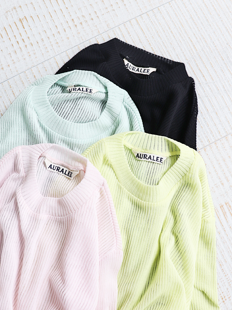 AURALEE(オーラリー)  SEE-THROUGH CREW NECK TEE