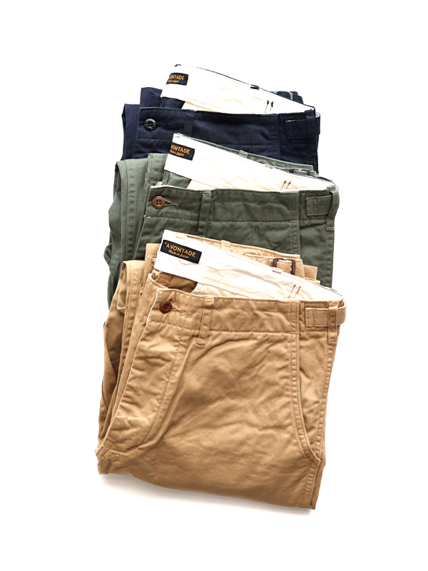 A Vontade(アボンタージ) Classic Chino Trousers -Regular Fit- Classic Selvdge Twill
