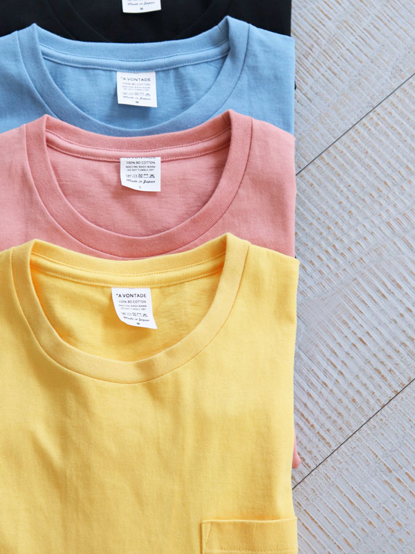 A Vontade(アボンタージ) 14/- Tube Pocket T-Shirt