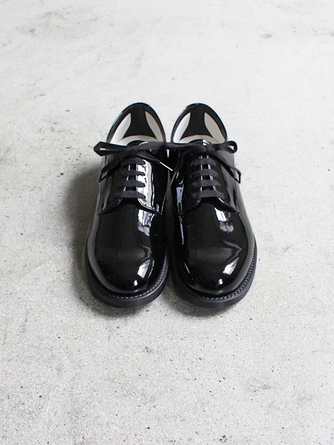 BEAUTIFUL SHOES(ビューティフルシューズ) SERVISCEMAN SHOES -ENAMEL BLACK-