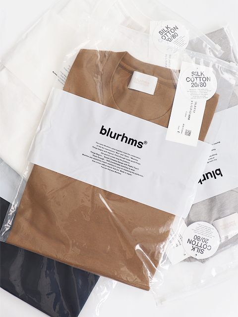 blurhms (ブラームス) Silk Cotton Jersey L/S P/O WM