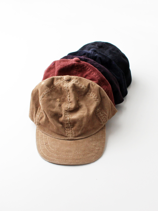 DECHO×ANACHRONORM (デコー×アナクロノーム)CORDUROY LEATHER BACKLE CAP