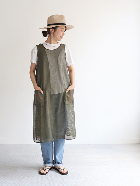 ENGINEERED GARMENTS(エンジニアードガーメンツ) Wrap dress -Dayton mesh