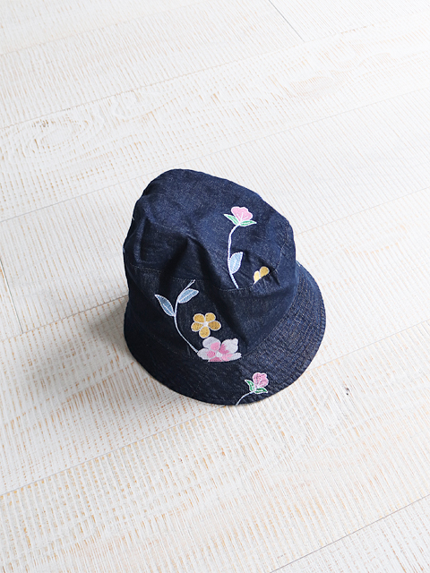ENGINEERED GARMENTS(エンジニアードガーメンツ) Bucket Hat-Denim Floral Embroidery