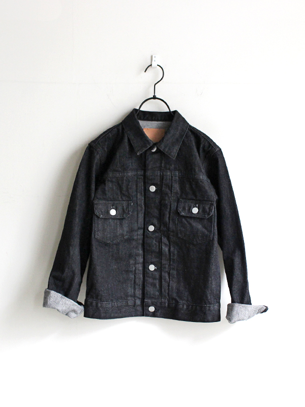 HATSKI(ハツキ) 2Pocket Denim Jacket - Black Denim