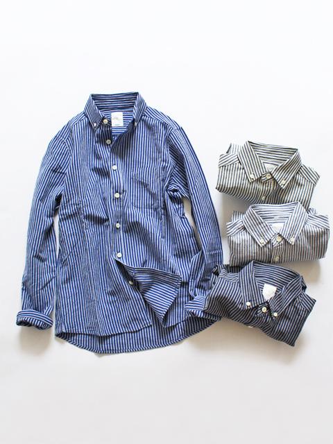 maillot(マイヨ) Sunset Stripe B.D. Shirts (ストライプB.D) MAS-003S